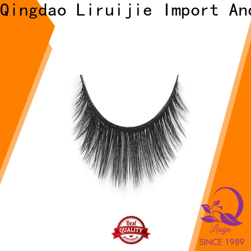 Liruijie fluffy synthetic color eyelashes supply for almond eyes
