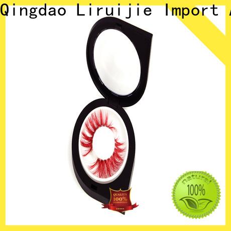 Liruijie Custom round eyelash packaging factory for fake eyelash