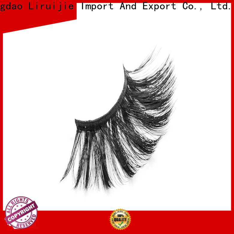 Liruijie fiber synthetic color eyelashes factory for round eyes