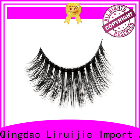 Liruijie thick synthetic eyelash suppliers manufacturers for almond eyes