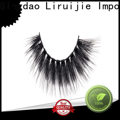 Liruijie deep 3d synthetic lashes factory for almond eyes