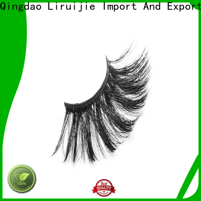 Liruijie chemical synthetic eyelash wholesale manufacturers for round eyes
