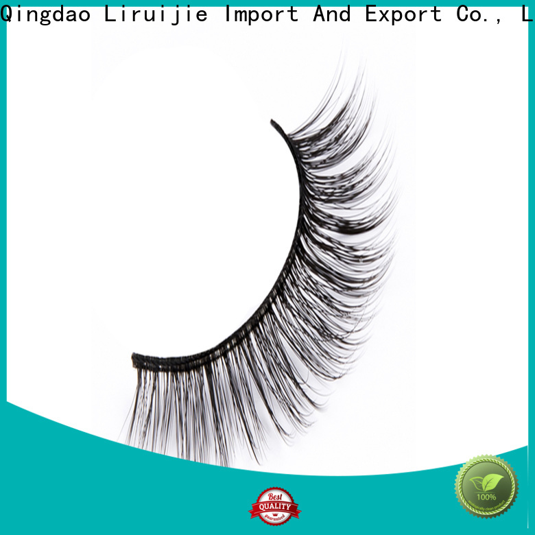 Liruijie 3d synthetic eyelash suppliers company for almond eyes