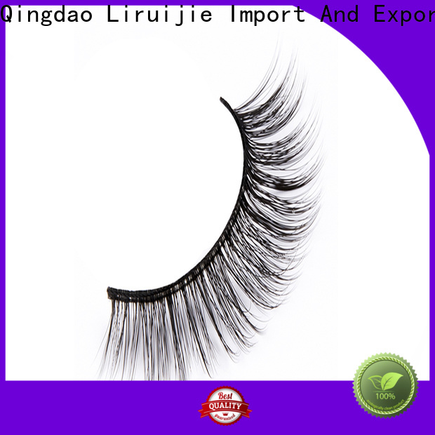 High-quality synthetic mink eyelashes highend company for round eyes