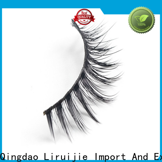 Liruijie fiber synthetic lashes suppliers for round eyes