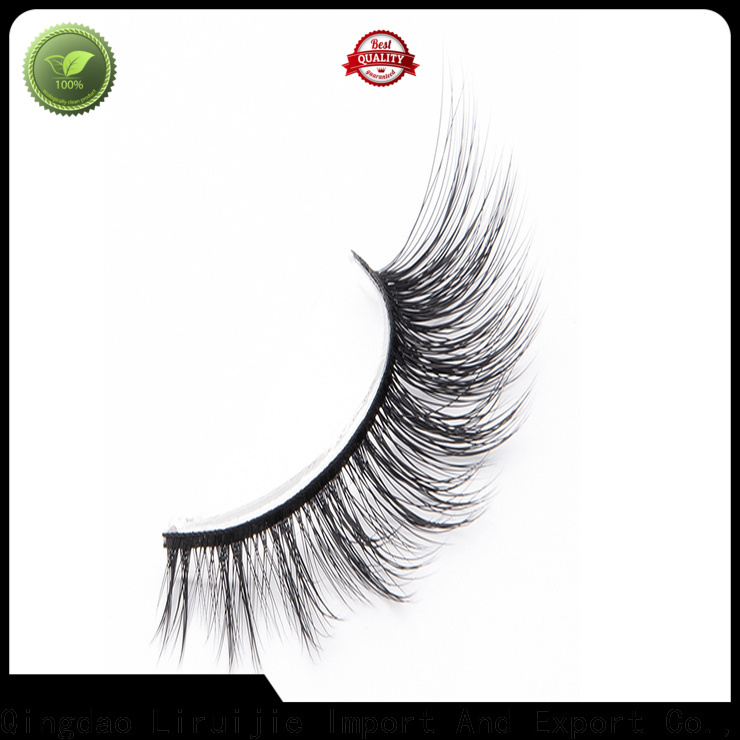 Liruijie eyelashes synthetic silk lashes supply for beginners