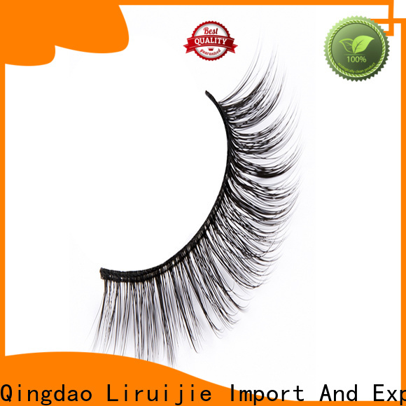 Liruijie flower faux mink synthetic eyelashes company for almond eyes