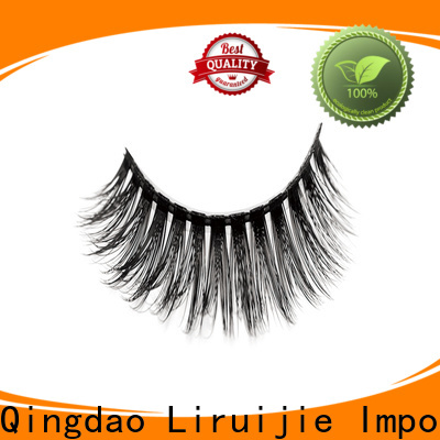 Liruijie wave synthetic eyelash manufacturers for round eyes