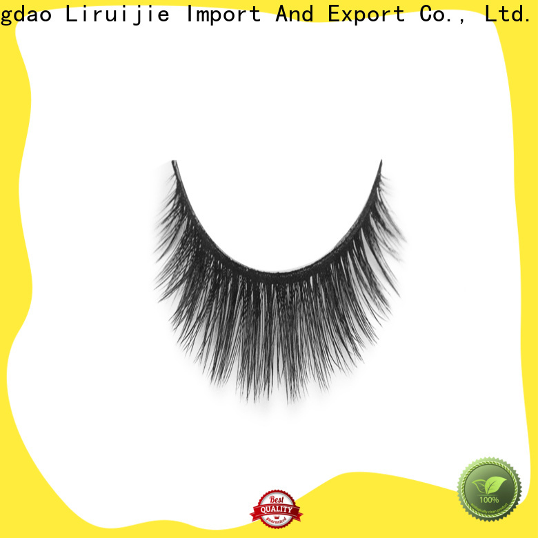 Liruijie New 3d synthetic lashes suppliers for round eyes
