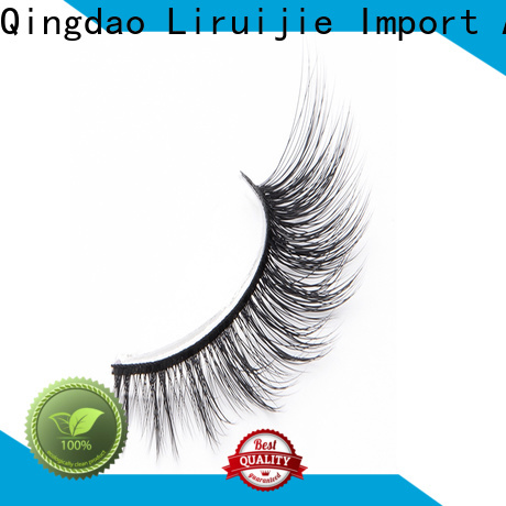 Liruijie thick synthetic eyelashes manufacturers company for Asian eyes