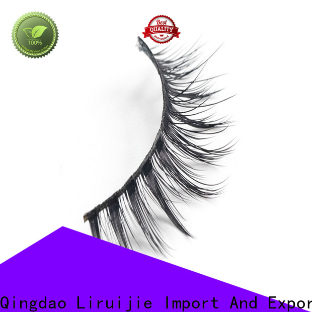 Liruijie fluffy faux mink synthetic eyelashes manufacturers for almond eyes