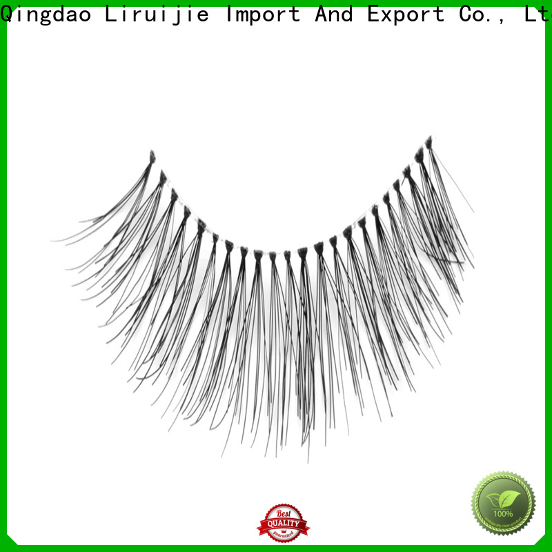 Liruijie fake eyelashes on factory for Asian eyes