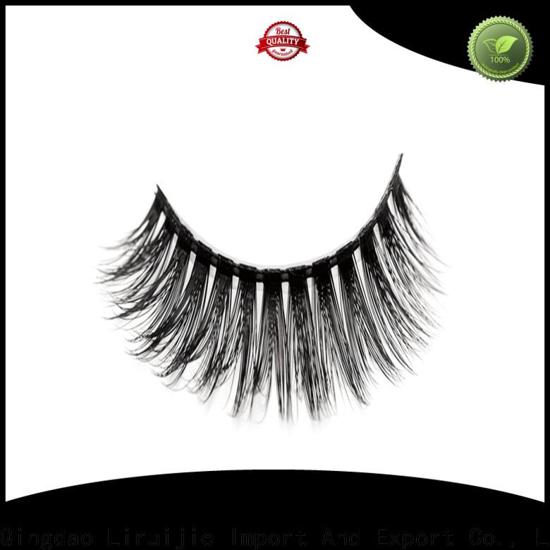 Liruijie New synthetic mink eyelashes supply for round eyes