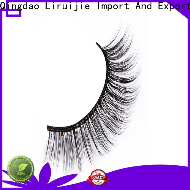 Liruijie series synthetic lashes suppliers for round eyes