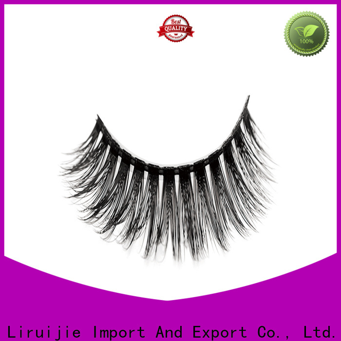 Liruijie false synthetic eyelashes wholesale suppliers for almond eyes