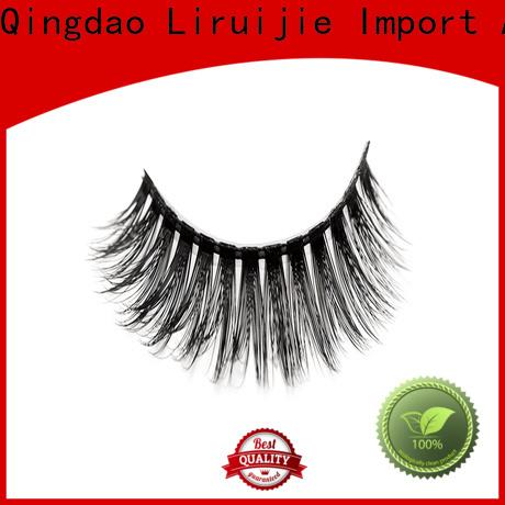 Custom good false eyelashes fluffy manufacturers for round eyes