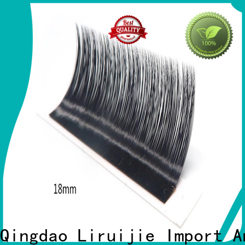 Liruijie Custom order mink eyelash extensions factory for straight lashes