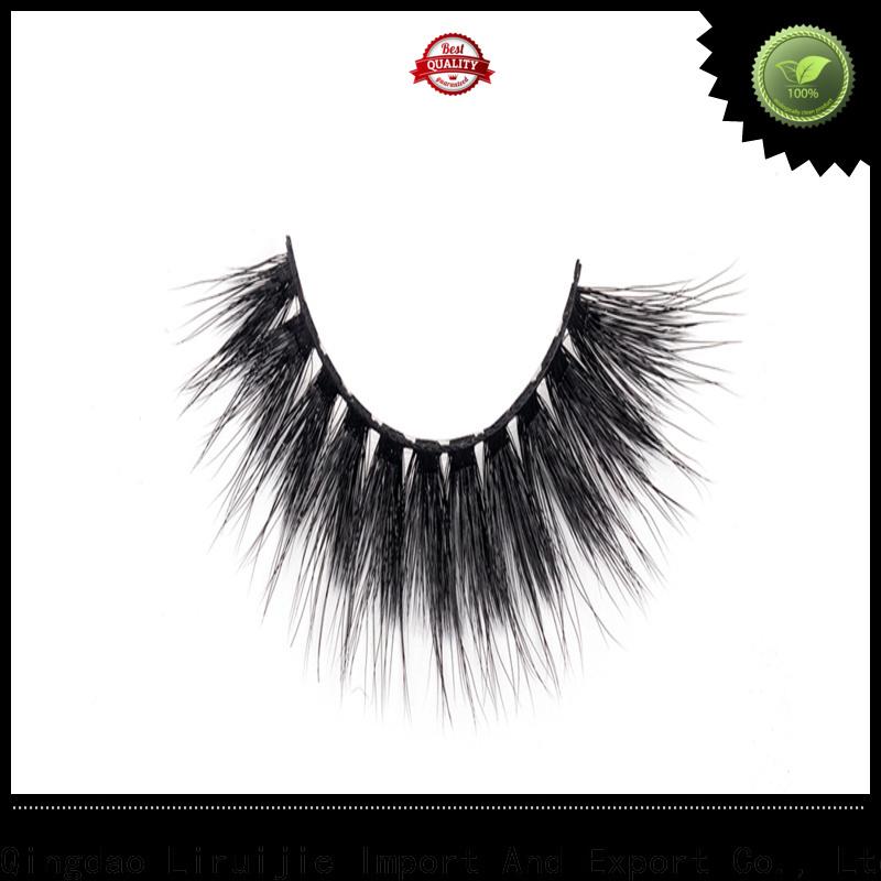 Liruijie eyelashes synthetic magnetic eyelashes manufacturers for almond eyes