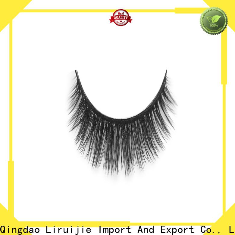 Custom professional false eyelashes fluffy factory for round eyes