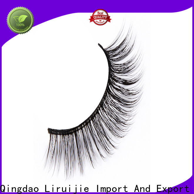 Liruijie chemical synthetic eyelash wholesale supply for round eyes