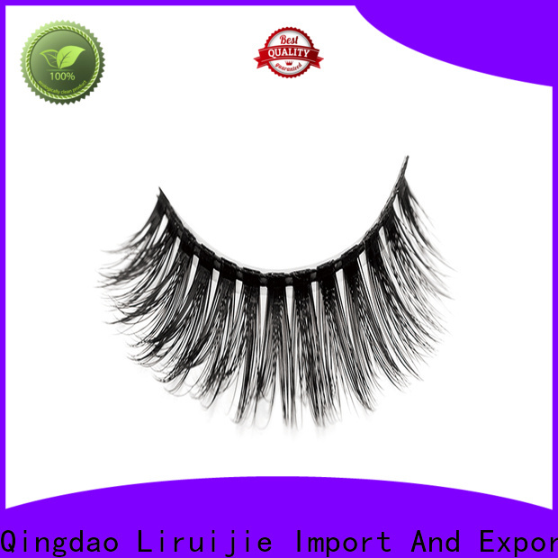 Liruijie 3d synthetic color eyelashes for business for round eyes