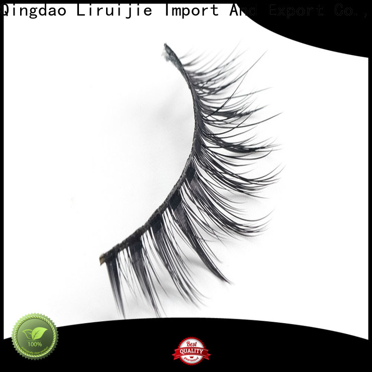 Liruijie Custom synthetic false lashes manufacturers for almond eyes