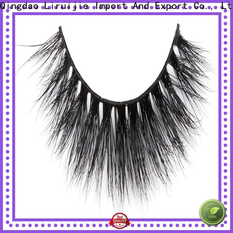 Liruijie Custom 100 mink fur lashes supply for extensions