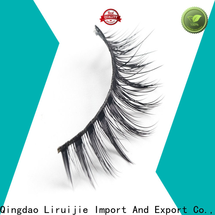 Liruijie New faux mink synthetic eyelashes company for almond eyes