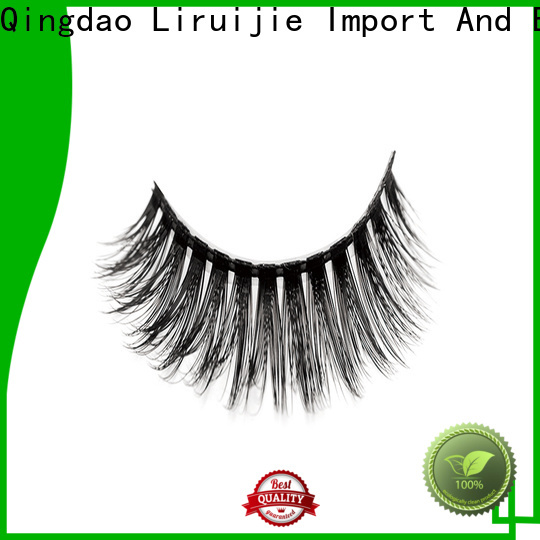 Liruijie New synthetic color eyelashes factory for round eyes