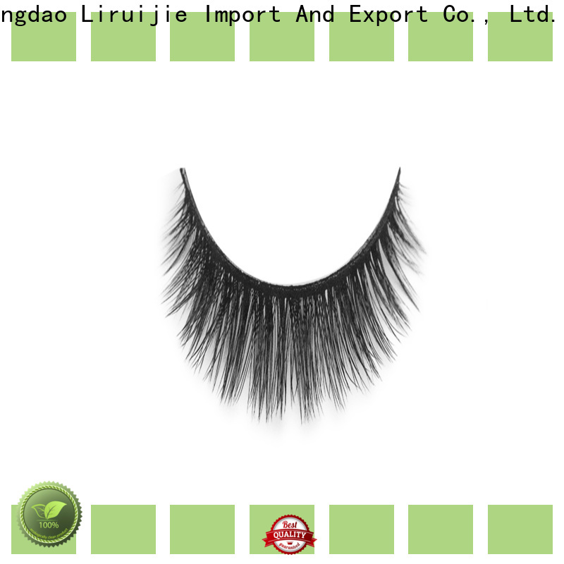 Liruijie wave synthetic magnetic eyelashes suppliers for almond eyes