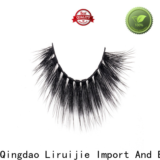 Liruijie synthetic synthetic mink eyelashes for business for almond eyes