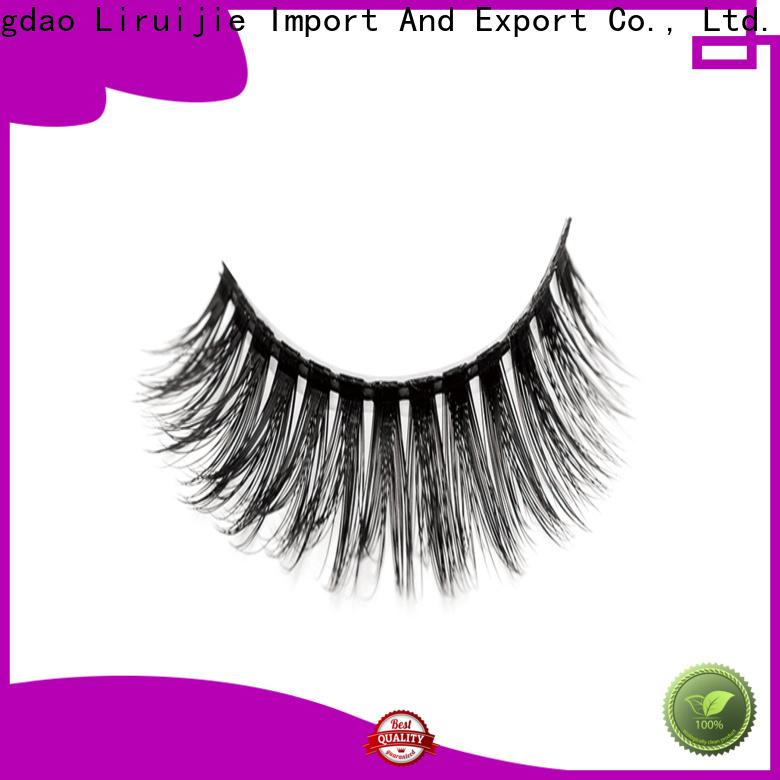 Liruijie false synthetic magnetic eyelashes manufacturers for round eyes