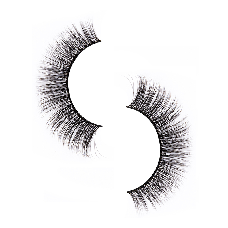 Liruijie fluffy synthetic magnetic eyelashes for business for round eyes